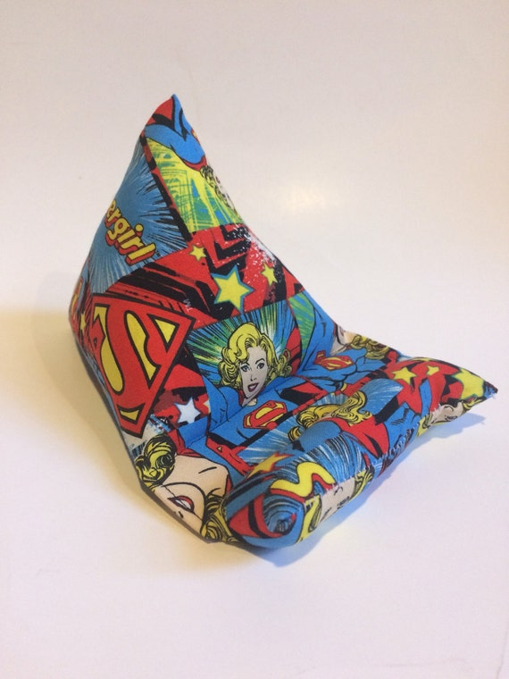 Cell Phone Stand, Supergirl fabric electronics stand, cell phone stand, tablet stand, iPad stand