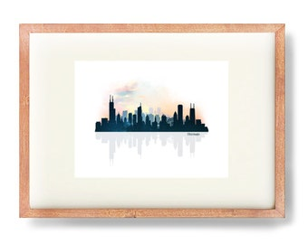 Digital Art Print, Chicago Skyline, Chicago Art Print, Chitown, City Skyline, Chicago Illustration, Chicago Poster, Downtown Chicago