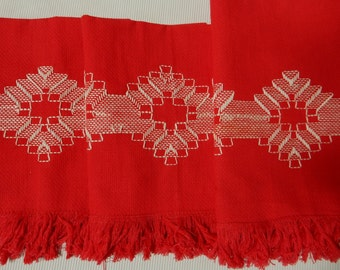 Red Huck Weaving Vintage Hand Towels/Napkins