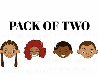 Afro Blank Greeting Cards | PACK OF TWO