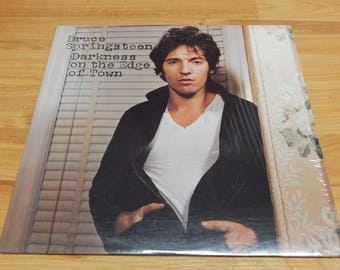 Bruce Springsteen Darkness on the Edge of Town Vinyl Record LP In Shrink album the boss