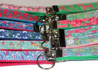Preppy Lilly Pulitzer Inspired Key Chains- SALE