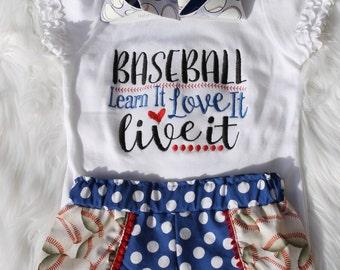 Baseball Shirt, Baseball Shorts, Toddler Baseball Shirt,