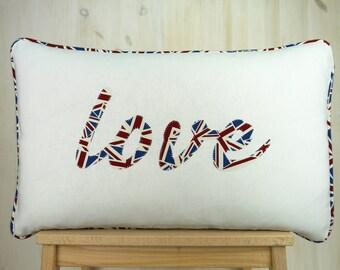 Union Jack Love Cushion