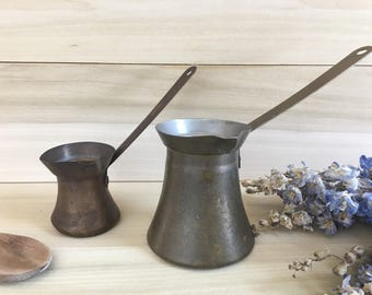 Antique Copper/Brass Ladle Set