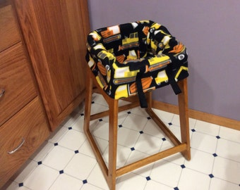 Restaurant Highchair seat cover, Construction Trucks and Tractors. Also in Shopping Cart Seat Cover