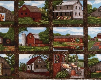 Quilt trails landscape  panel.  There's a lot of beauty in old barns.