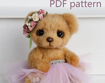 PDF Pattern - Artist Teddy Bear Milly by Marina Kachan