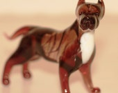 Staffordshire Terrier  - a glass figurine.