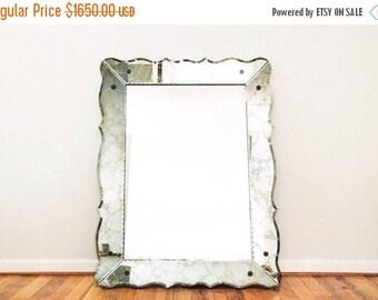 SALE mid century mirror, large mirror, hanging mirror, decorative wall mirror, stunning huge glam style mirror w/veined mirror frame, 4ft x