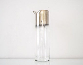 mid century pitcher, decanter, beautiful mid century Dorothy Thorpe style ombre silver fade cocktail pitcher, vintage