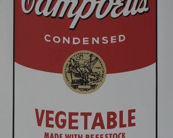 """Andy Warhol Campbell's Soup """"Vegetable"""" Signed Lithograph Limited 3000 pcs"""