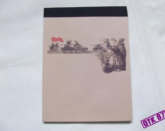 Big note pad.  WW2 Red Army reproduction.