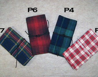 Roll-Up Tobacco Pouch Plaid Flannel bag