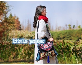 2017NEW Handbag,Vintage Embroidered Cloth Hmong Bag ,purse, Diaper Bag  Camera Bag,Canvas shoulder bag, messenger bag, laptop bag, hobo, dia