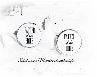 Stainless steel cufflinks father of the bride