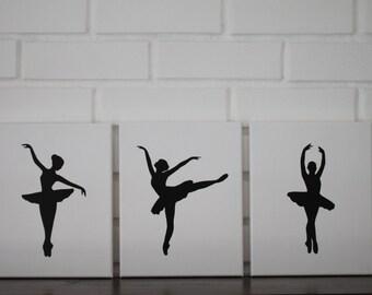 Ballerina Nursery, Ballerina Wall Art, Ballerina Painting, Nursery Paintings, Baby Girl Nursery Decor, Ballet Decor, Nursery Ballerina