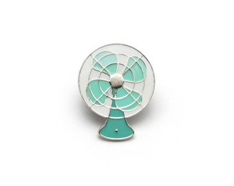 Vintage Electric Fan Enamel Pin (Seafoam)