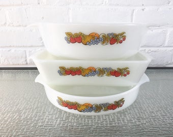Anchor Hocking Fire King Nature's  Bounty Ovenware
