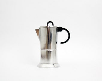 Vintage Espresso Coffee Maker // BIA 2 Bialetti Stainless Steel Espresso Maker // Stove Top // Moka // Vintage Coffee Machine