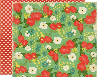 Echo Park Scrapbook Paper - Tablecloth