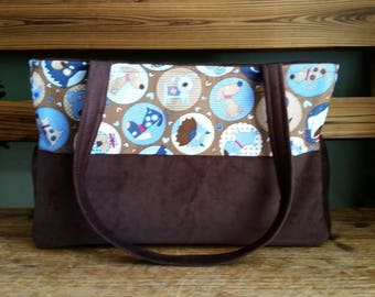 Puppy dogs and Corduroy Diaper Bag. Ready to ship