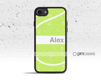 Personalized Tennis Name Case Cover for Apple iPod Touch & iPhone 4/4s/5/5s/5c/6/6s/7/Plus/SE