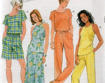 Easy McCall's Pattern 9336 TOPS Skirt PANTS or SHORTS Misses Sizes 8 10 12