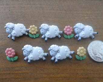 Dress It Up Buttons - COUNTING SHEEP