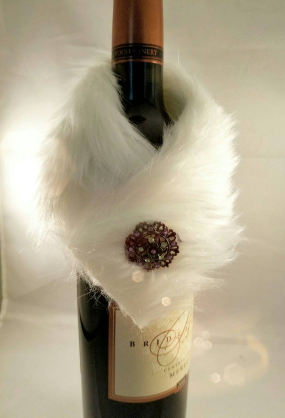 Wine bottle wrap! Dress cover up,Fuzzy wedding holiday ...