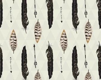 192 Feathers and Arrows Brown Sepia Tones Print Napkins ~ Elise Premium Brand ~