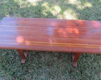 Cedar Coffee Table, Rustic Coffee Table, Wood Coffee Table, Farmhouse  Furniture, Primitive