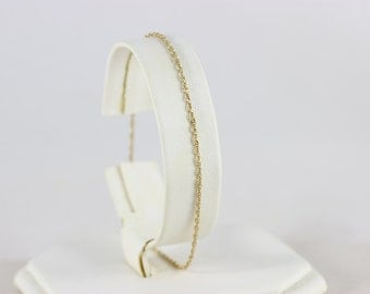 10k Yellow Gold Chain Anklet 9 1/8""