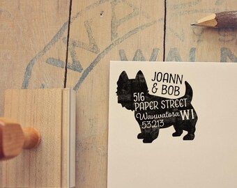 Westie Address Stamp - Dog Return Address Stamp - Dog Lover Gift - Rubber Stamp - Personalized Pet Address Stamp