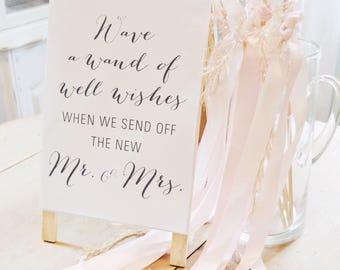 Ribbon Wand Wedding Send-Off Sign