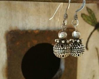 Simple sterling earrings
