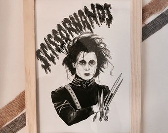 Edward Scissorhands Illustration