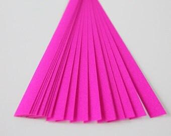 folding paper for lucky stars pink glitter - 20 paper strips for origami stars