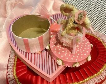 Darling, Hand-Made Spun Cotton Treat Box