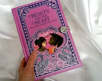 Beauty and the Beast Book Clutch Purse - Belle - Disney Princess - Fairy Tale Book - Valentines Gift
