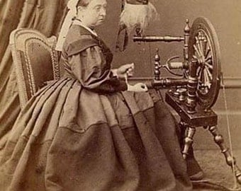 Queen Victoria at her spinning wheel, 1864, #2