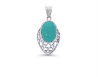 Sterling Silver turquoise pendant. turquoise jewelry
