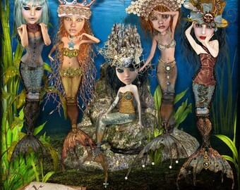 Scrapbook Kit - Steampunk Mermaids