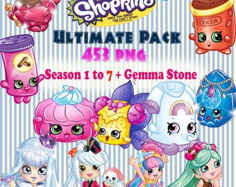 Digital Collage Shopkins Ultimate Set of 453 Printable Image clipart Serie 1 to 7 + Gemma Stone exclusive - Update 13/02/17 - Download