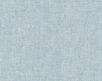 Robert Kaufman Yarn Dyed Essex Metallic - Water - Cotton Fabric