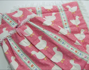 Cute Pink Geese Set (2 Pieces) (Nappy/Diaper Stacker and Baby Blanket)