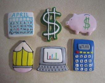 12 Accountant Hand Decorated Cookie