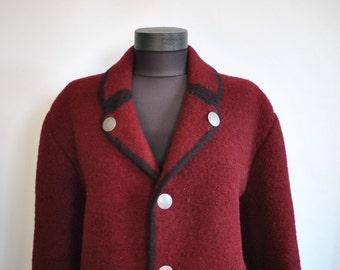 Vintage PURE WOOL HANDMADE women's blazer ..............(391)