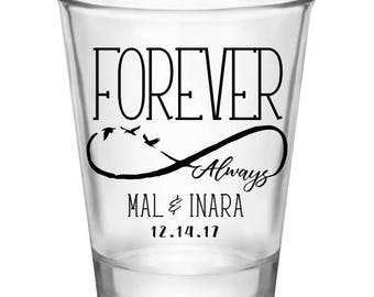 Forever Always - Custom Wedding Shot Glasses