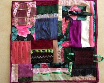 Fidget Quilt / Sensory Blanket - Mama's Roses